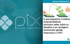 O Que Pequenos E Médios Empreendedores Precisam Saber Sobre Os Desafios E As Vantagens Envolvendo Gestão Financeira E O Pix  - Compliance Contábil